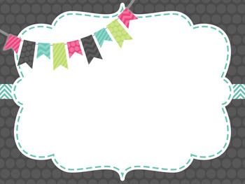 Cute Frames Powerpoint Backgrounds *EDITABLE!*