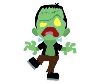 Cute Frankenstein Color Clip Art