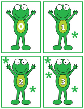 Cute Frog 0-10 Counting Flash Cards; Kindergarten; Preschool; Homeschool; Math