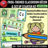 Frog-themed Classroom Decor and Set Up (Editable)
