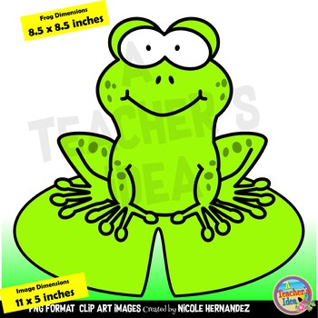 Cute Frogs and Lilypads Clip Art for Personal and Commercial Use