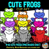Frogs and Lily Pads Clip Art for Personal and Commercial Use
