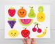 Cute Fruit Clipart, Fruits with faces, Kawaii Fruit Summer, SVG
