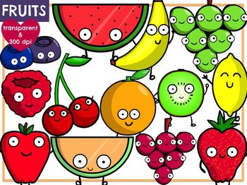 Cute Fruit (Digital Clip Art)