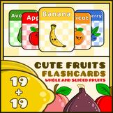 Cute Fruits Flash Cards