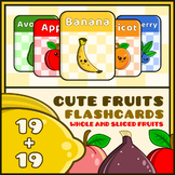 Cute Fruits Flash Cards