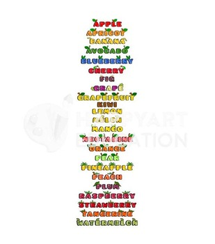 Montessori Cute Fruits Chart – Whole & Sliced Fruits