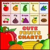 Cute Fruits Chart – Whole & Sliced Fruits