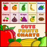 Cute Fruits Chart – Whole & Sliced Fruits