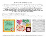 Cute & Fully-Editable Mother's Day Hand-print Poem