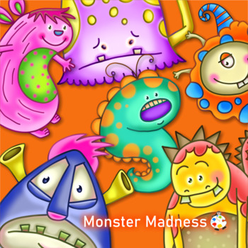 Cute Funny Monster Madness ClipArt Set Two