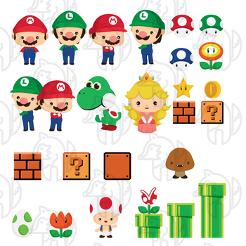Cute Game Brother clip art