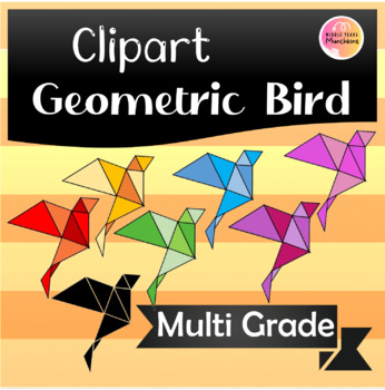 Cute Geometric Bird Clipart!!
