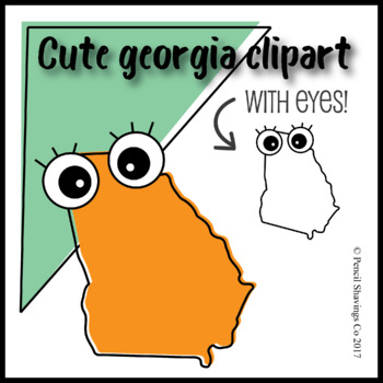 Cute Georgia Clipart with Eyes!