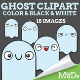 Cute Ghost Halloween Clipart - Facial Expressions & Emotions