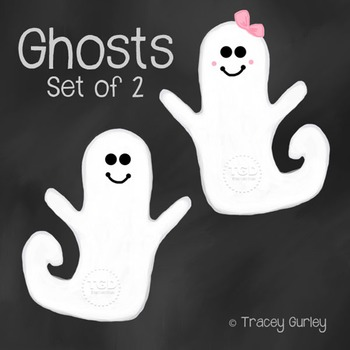 Cute Ghost Clipart, halloween clip art Printable Tracey Gurley Designs