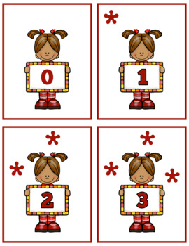 Cute Girl 0-10 Counting Flash Cards; Kindergarten; Preschool; Homeschool; Math