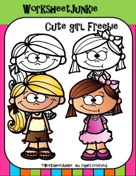 Cute Girl Clipart Freebie!