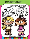Cute Girl Clipart Freebie!