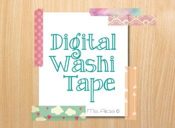 Cute Girly Digital Washi Tape