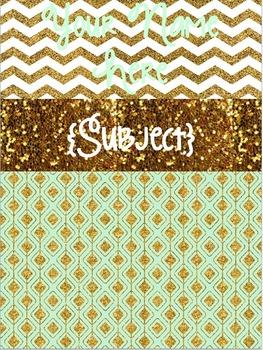 Cute Glittery Binder Cover