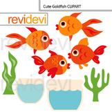 Cute Goldfish Digital Clip art