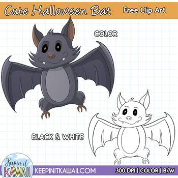 Cute Halloween Bat Free Clip Art