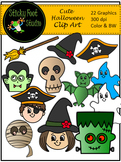 Cute Halloween Clip Art - Color and BW