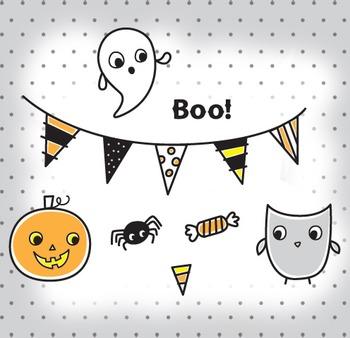 Cute Halloween Clip Art Illustrations