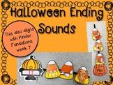 Cute Halloween ENDING SOUNDS center activity!
