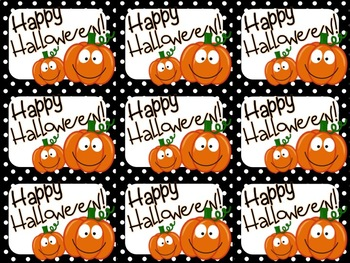 sc 1 st  Teachers Pay Teachers & Cute Halloween Gift Tag (Happy Halloween) by Highs and Lows of a Teacher