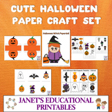 Cute Halloween Paper Craft Set