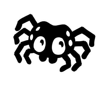 Cute Halloween Spider Clip Art