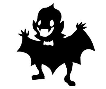 Cute Halloween Vampire Silhouette Clip Art