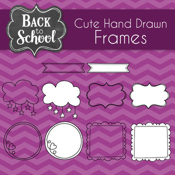 Cute Hand Drawn Frames and Borders