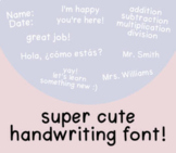 Cute Handwriting Font | Commercial Use