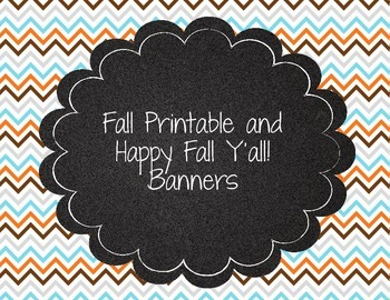 Cute Happy Fall! Welcome Fall Printable Banners! Fox and Deer