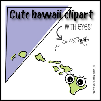 Cute Hawaii Clipart with Eyes!