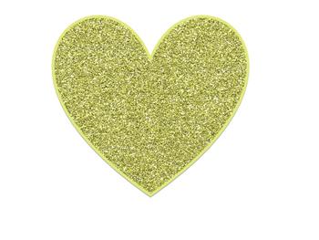 Cute Hearts Glitter Clip Art Free!