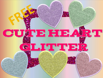 Cute Hearts Glitter Clip Art Free!