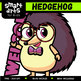 Cute Hedgehog Digital Clipart - 10 Pose