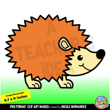 Cute Rainbow Hedgehogs Clip Art for Commercial Use