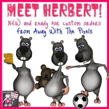 Cute Herbert the Rat Clip Art 14 Images  - Commercial Use Clipart