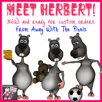 Cute Herbert the Rat Clip Art 14 Images  - Commercial Use Clipart