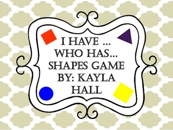 I Have Who Has *Cute* Colored Shapes Game