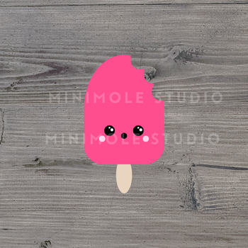 Cute Ice Lolly Popsicle SVG PNG Clip Art Graphic