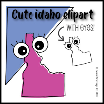 Cute Idaho Clipart with Eyes!