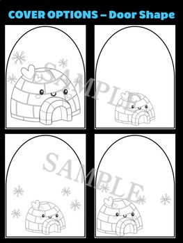 Cute Igloo with Snow- Moonju Makers Activity, Craft, Writing, Winter, Arctic