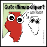 Cute Illinois Clipart with Eyes!