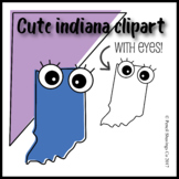 Cute Indiana Clipart with Eyes!